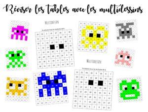 Multidessins Des Coloriages Pour Reviser Les Tables De Multiplication